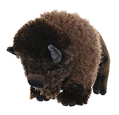 Wild Republic Bison, Cuddlekins, Stuffed Animal, 12 inches, Gift for Kids, Plush Toy, Fill is Spun Recycled Water Bottles from Wild Republic