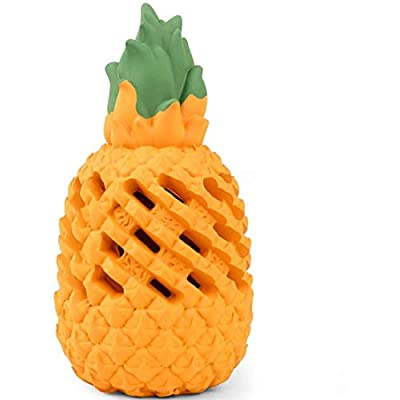 Amazon - Save 60%: Pineapple/Mango Dog Chew Toys for Aggressive Chewer – Squeaky Teethb…
