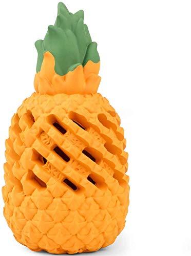 Beewarm Hundespielzeug für Aggressive Kautiere Große Rasse Grüne Ananas Sicherer Spaß Langlebiges Gummi-Hundekauspielzeug für Langeweile