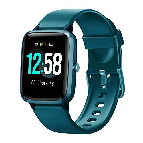 Blackview Smartwatch Fitness Tracker Watch Hombres Mujeres, Reloj Inteligente Deportivo con 5ATM Muñeca Pulsómetros de muñeca Monitor de Actividad Podómetro para Android iPhone Samsung Huawei Xiaomi