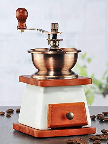 marion10020 Kaffeemühle Kaffee-Mühle Mill, Holz & Keramik, mit hochwertigem Keramik-Kegelmahlwerk, im Nostalgie-Design