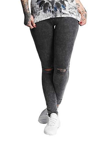 trueprodigy Casual Damen Marken Leggings mit Stretch Leggins Cool Stylisch sexy sportlich Skinny Elegante Stretch Hose für Frauen, Größe:M, Farben:Anthrazite
