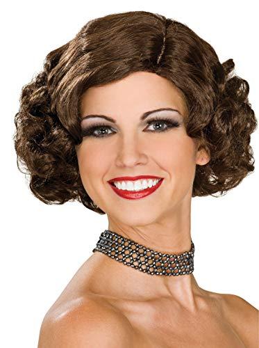 Rubie's Flapper Wig, Brunette, One Size