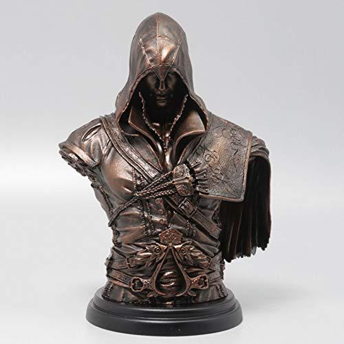 GJLMR Assassin'S Creed Bust Ezio(Bronze Edition) Figura Statue Legacy Collection(NO Box) XCJSWZZ