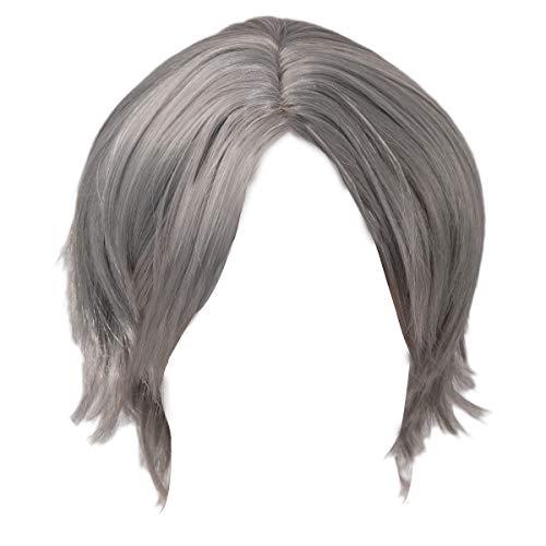 Evere Dante Perücke Grau Silber Kurz Gerade Haar Spiel Cosplay Kostüm Zubehör für Herren Kleidung Merchandise