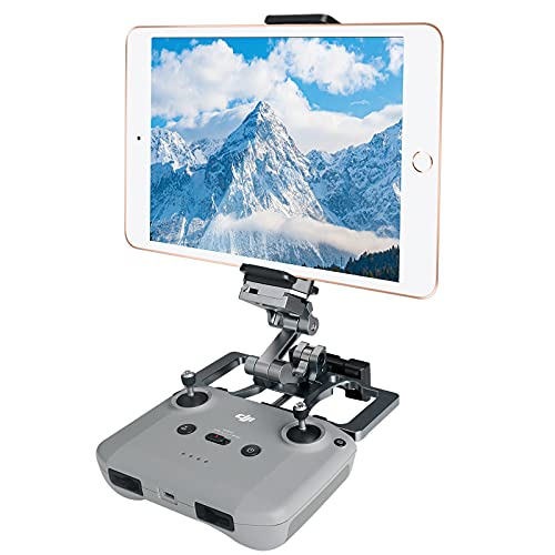 REGEEK Drone RC Table Holder Mount for DJI Mavic Mini/Mini 2/Air 2/Air 2S/Spark/Pro, Foldable Drone Table Mount with Lanyard, Aluminum Table Mount for Drone Remote Controller