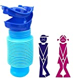 Nifogo Orinatoio Portatile bambini, Mini Uomo Vasino da Viaggio di Emergenza Auto 750 ml (blu)