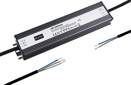 HuaTec Eaglerise Trasformatore LED 24V 200W Impermeabile IP67 Senza Sfarfallio Tensione Costante per Strisce LED Alimentatore Driver
