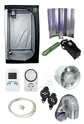 Sistema de iluminación Interior 600W   Armario de Cultivo 1 x1 x 2 m   Kit de Cultivo Completo Lite 100