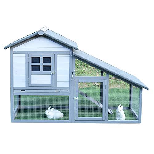 Jaula De Conejo De Red Gruesa para Exteriores Casa De Conejos, Gallinero, Gallinero, Protección contra La Lluvia Y El Sol, con Puerta De Ventilación