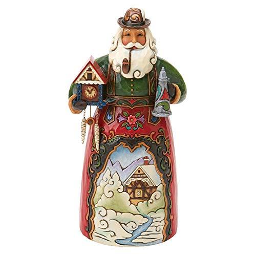 """Jim Shore Heartwood Creek German Santa Stone Resin Figurine, 6.75"""""""