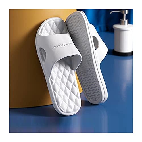 YHshop Pantuflas Playa Sandalias de baño Antideslizantes Sandalias de Ducha Soft Cómodas y Transpirables Zapatillas de Dormitorio House House Gym Pool Sandals Sandalias (Color : Gray, Size : 7#)