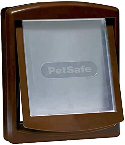 PetSafe – Puerta para Perros y Gatos Original Staywell con 2 Posiciones - Entrada y salida - Puerta para Mascotas. Panel de cierre incluido - Marrón (L) 🔥