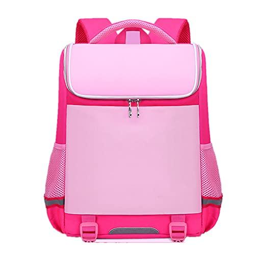 YIXIN 5 – 16 anni, borsa da scuola confortevole in nylon multi-tasca per studenti traspirante leggero zaino casual adatto per ragazzi, rosa, Taglia unica,