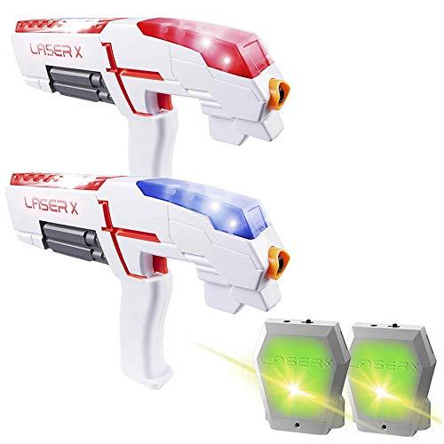 Laser X Double Set | 2X Laserpistole Spielzeugpistole mit Westen - LX016