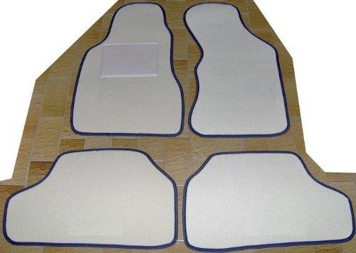 juego completo Moqueta con alfombrillas traseras Unidos con bordado de hilo Bianco Lancia Delta Martini Alfombras sobre tama/ño negro para coche