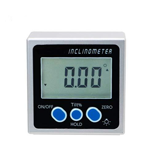 RongWang 4 * 90 Mini Bisel Digital Box Medidor Digital inclinómetro del prolongador Goniómetro Goniómetro con el imán, En el Fondo