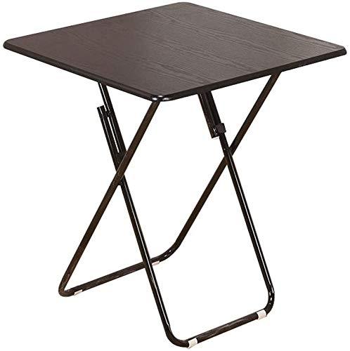 LJA Kleiner Klapptisch, Einfacher Tragbarer Quadratischer Esstisch, Gedeckter Quadratischer Haupttisch, Balkonparty-Tisch