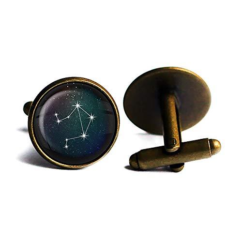 Zodiac Symbol Astrology Libra Star Constellation Tierkreis Astrologie Waage Antike Bronze Manschettenknöpfe