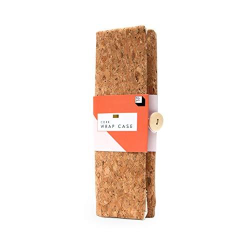 Good Design Works Cork Wrap Pencil Case | Art Supplies | Pencil Holder | Brush Holder | Adult Colouring | Pen Case | Art Pencil Case | Canvas Pencil Case | Art Caddy | Make Up Brush Holder