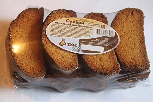 Classic crackers vanilla 10.5oz Product of Russia Сухари ванильные классические 'ТХК' Sukhari
