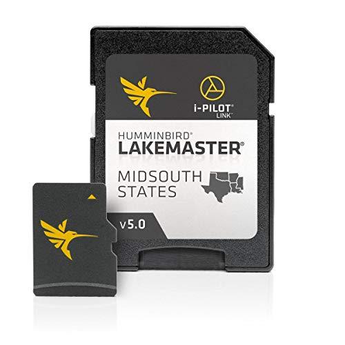 Humminbird LakeMaster Mid-South States Edition Digital GPS Lake Maps, Micro SD Card, Version 5, Black