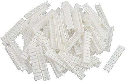 eDealMax 100Pcs ZB4 terminales en carril DIN bloque de marcado Las etiquetas etiquetas en Blanco Blanca