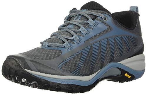 Merrell womens Siren Edge 3 Hiking Shoe, Rock/Bluestone, 9.5 Wide US