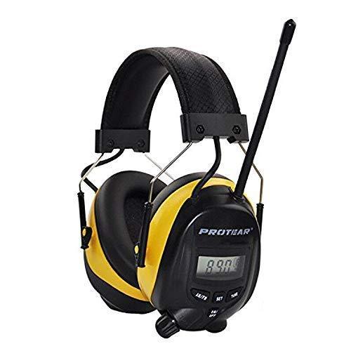 Auriculares con reducción de ruido de radio FM / AM, Defensores de oído Protear con conector de auriculares estéreo para disparar y trabajar, NRR 25dB