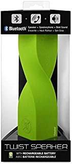 Twist Portable Speaker Bluetooth Rechargeable - Rubberized Green