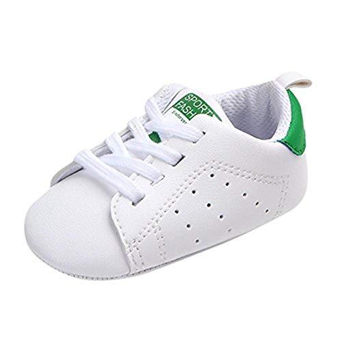 Scarpine Neonato Battesimo Primi Passi in Morbida Unisex Sneaker Casual con Suole Morbide Scarpette Antiscivolo per Bimbi 0-18 Mesi
