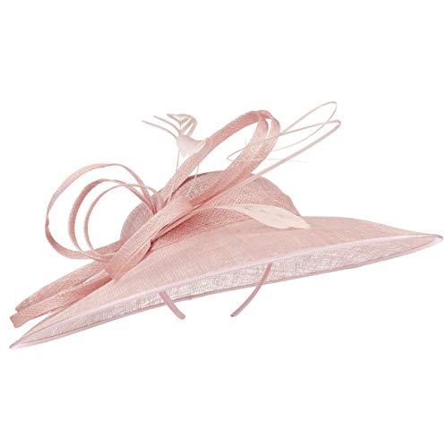 McBurn Haarschmuck Fascinator mit Federn Damen - Brauthut Anlasshut Festhut Frühling-Sommer Herbst-Winter - One Size rosa