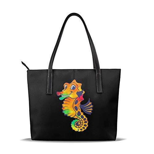 Bolso de hombro grande de cuero casual de las mujeres - Bolso de la manija del Blaze amarillo para el trabajo y los viajes