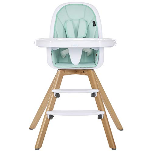 New Evolur Zoodle 2-in-1 High Chair in Mint