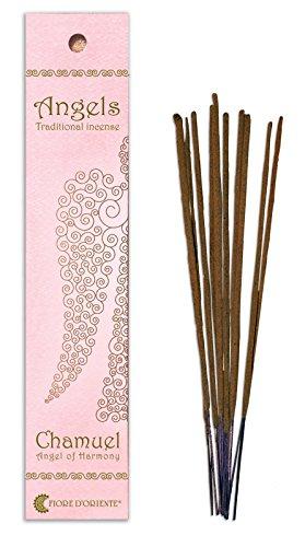 Fiore D 'Oriente Angeli incenso Chamuel in Rosa imballaggio, bambù, Multicolore, Confezione da 10