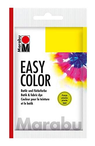 Marabu 17350022264 - Easy Color pistazie, 25 g Batik- und Handfärbefarbe für Baumwolle, Leinen, Seide und Mischgewebe, handwaschbar bis 30°C, sehr gute Lichtechtheit, nicht kochecht