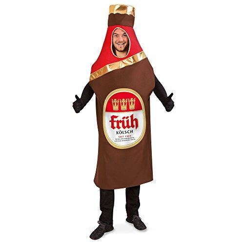 KarnevalsTeufel Kostüm Bierflasche Früh Kölsch, Flaschenkostüm für Erwachsene