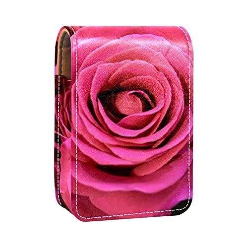 OLEEKA Boîte d'emballage de Rouge à lèvres,avec Miroir,Fleur de Rose Rose