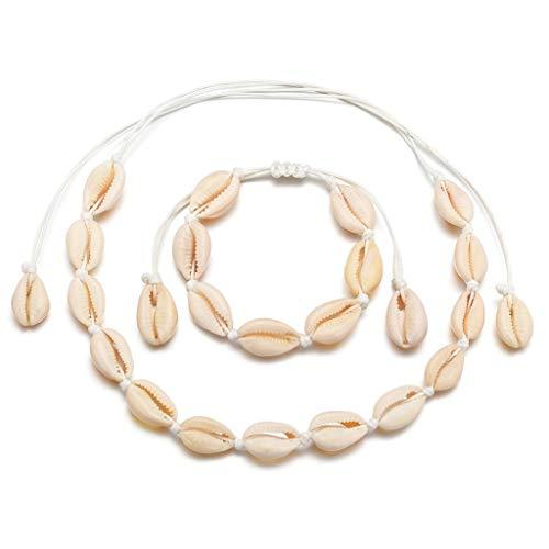 Viesky Boho Natuurlijke Shell Vrouwen Armband Ketting Sieraden Set Hawaii Beach Sieraden 3