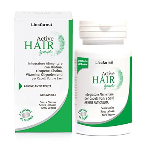 Active Hair Lycomplex Integratore per il Benessere dei Capelli. Uomo e Donna. Rinforza i Capelli. Con Vitamine, Biotina, Zinco, Rame ed Estratti Vegetali.