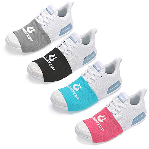 Sock Shoes Dance on Smooth Floors-Over Sneakers Shoe Socks Sliders-Zumba Strong Accessories Clothes-Smooth Pivots Turns to Dance on Wood Floors for Men Women(4 Pairs Black & Grey & Blue & Pink)