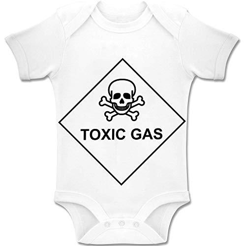 Warning giftige gas! - Baby bodys/rompler Romper Onesie Unisex 100% katoen (0-24 maanden)