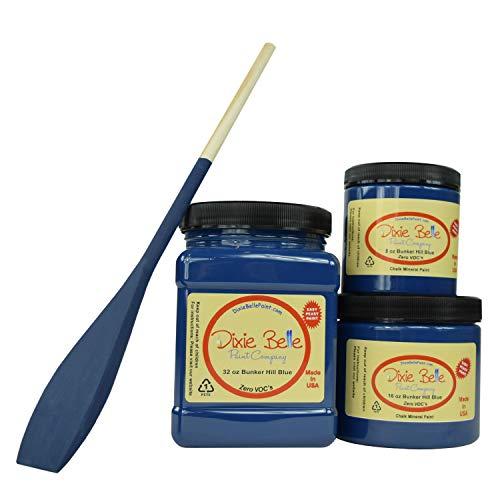 Dixie Belle Paint Company Chalk Furniture Paint (Bunker Hill Blue) (16 oz)