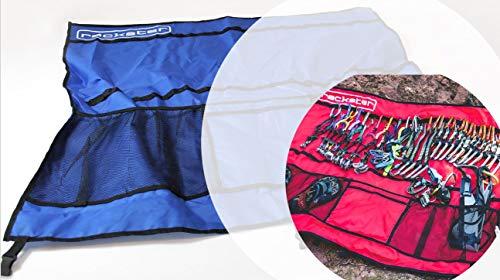 rackster Klettertasche I Blau I wasserabweisender Organizer für Kletterequipment I Robuste Tasche für komplette Kletterausrüstung I Ordnung + Übersicht für das gesamtes Kletterzubehör