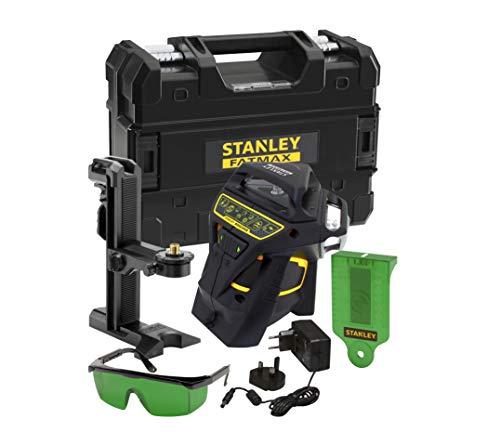 Stanley FatMax FMHT1-77356 Lijnlaser X3G (zelfnivellerend, met groene diode en laserbril, 3x 360 ° lijnen, nauwkeurigheid: 3 mm/10 m, incl. oplader en transportkoffer, tot 60 m met detector)