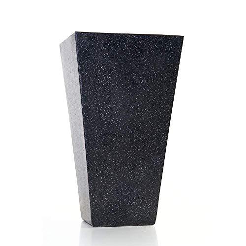 VIBREEZE - Blumenkübel, Pflanzkübel - zeitloses Design elegant robust widerstandsfähig - Terrazzo-Beton Blumenkasten Blumentrog Pflanztrog Blumentopf für Haus, Garten und Balkon herausragende Qualität