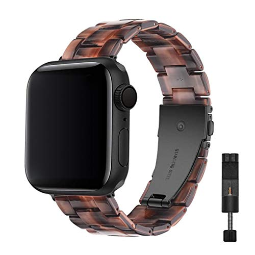 Supore Correade Resina Compatible con Apple Watch Band 38mm 40mm, Correa de Repuesto de Pulsera de Resina Ligera para Mujer iWatch Band Serie 5/4/3/2/1 (Chocolate - 38mm/40mm)