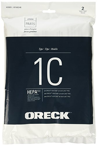 Oreck HEPA Replacement Bag for Venture and Venture Pro Canister Vacuum Cleaners, AK10020, 2 Pack