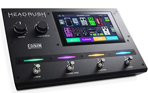 HeadRush Gigboard - Ultra-portabler Gitarren Effekt, Amp Modeller mit Eleven HD Expanded DSP Software, 7-Zoll Touch-Display, eingebauter Looper, IR Unterstützung und USB - Audio Konnektivität