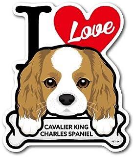 PET-034 CAVALIER KING CHARLES SPANIEL キャバリア DOG STICKER ドッグステッカー 車 犬 イラスト アイラブ ペット 愛犬